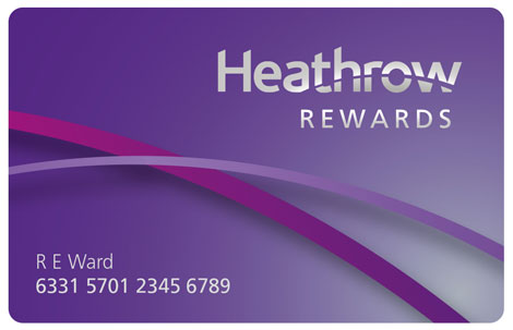 أحصل على بطاقة Heathrow Rewards مجانا إلى غاية باب منزلك