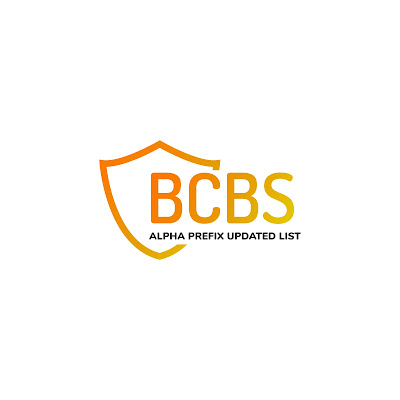 BCBS Alpha prefix update list