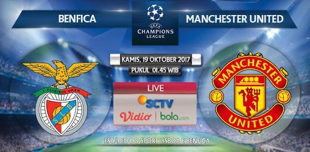 Prediksi Benfica vs Manchester United Kamis 19 Oktober 2017 - Siaran Langsung SCTV