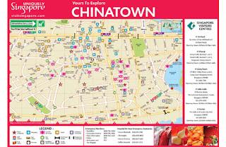 Mapa de Chinatown, Singapur.