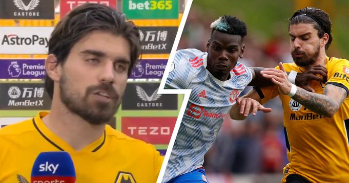 Ruben Neves not happy with Pogba foul: 'I showed my leg to the ref, I can't say anything more'