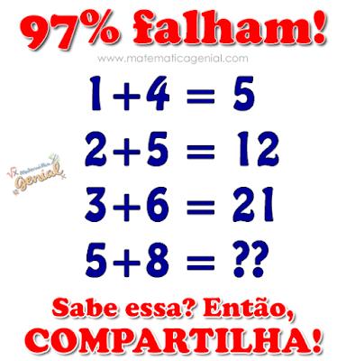 Desafio: Qual o resultado? 97% falham!