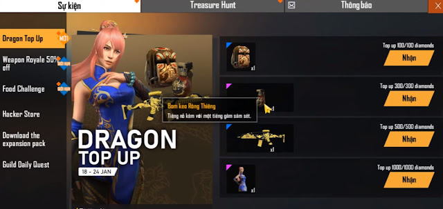 Event Top Up Free Fire VN dan Global VS Free Fire Indonesia