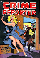 Crime Reporter v1 #2 - Matt Baker golden age crime comic book cover art