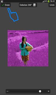 Edit foto merubah warna