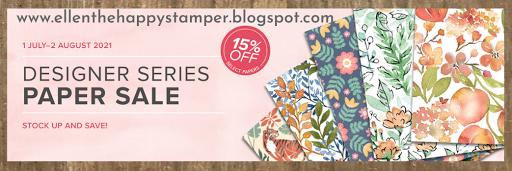 15% Off Designer Series Paper Sale
