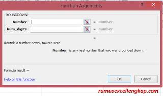 fungsi argument rumus Rounddown
