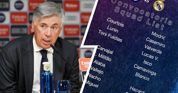Real Madrid name 23-man squad for CL clash against Inter with Alaba back in