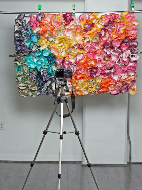 Backdrops may seem like a minor detail in your wedding plans, but it sets the tone for your ceremony- coffee filters floral backdrop - wedding ideas - wedding inspirations - wedding details - K'Mich Weddings Philadelphia PA