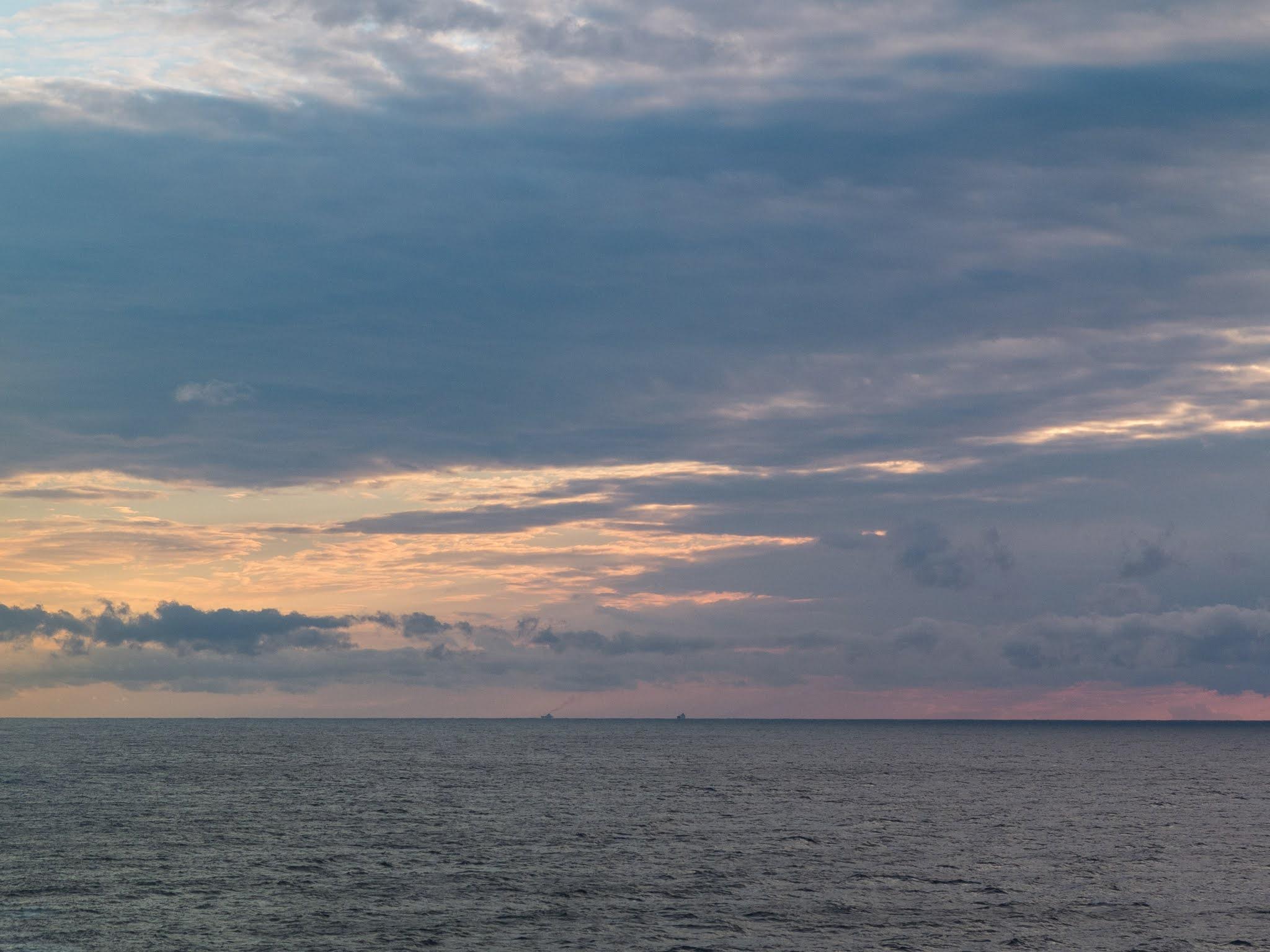 Sunset sky over the Balearic Sea.