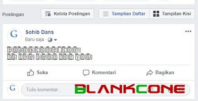 gambar status facebook dengan teks unik