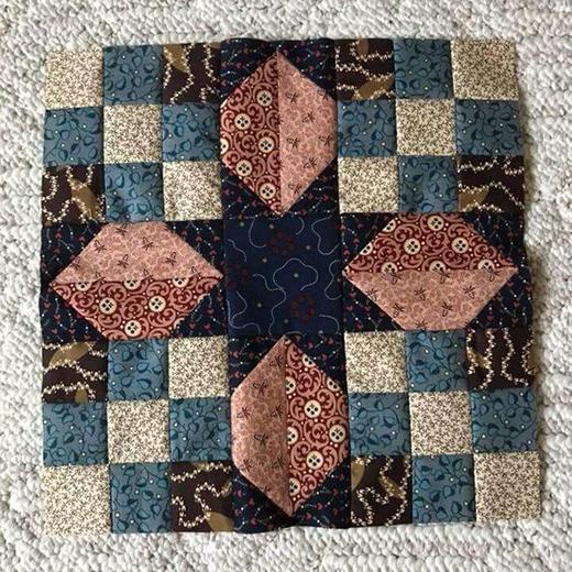 Stellar Star Block designed by Lynne Hagmeier for Moda Fabrics
