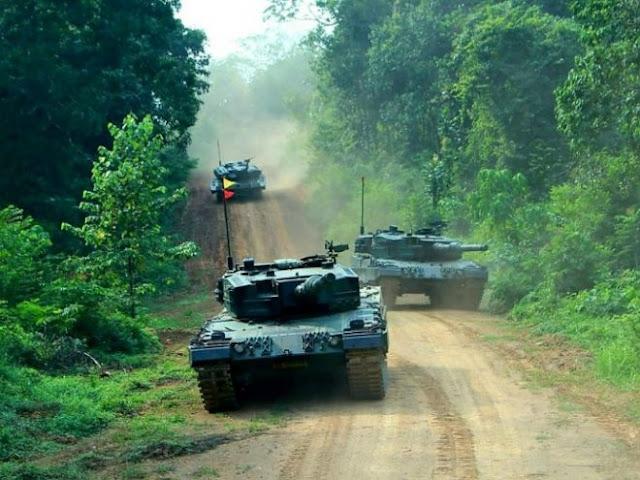 Tank Leopard 2 Batalyon Kavaleri 1 Kostrad Latihan Uji Siap Tempur
