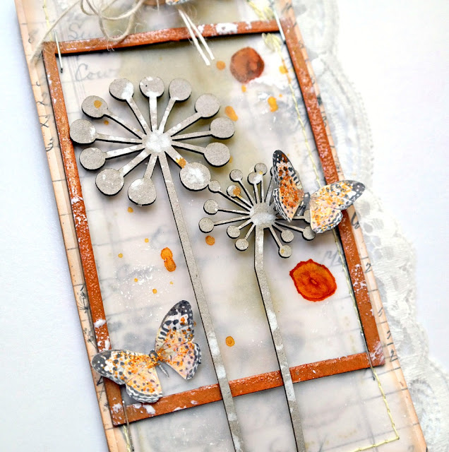 How to Make a Skaker Tag with Vellum and Beads by Dana Tatar for FabScraps