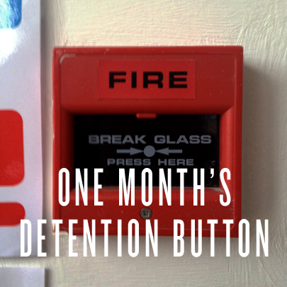 fire alarm, made by Kate Whiteman