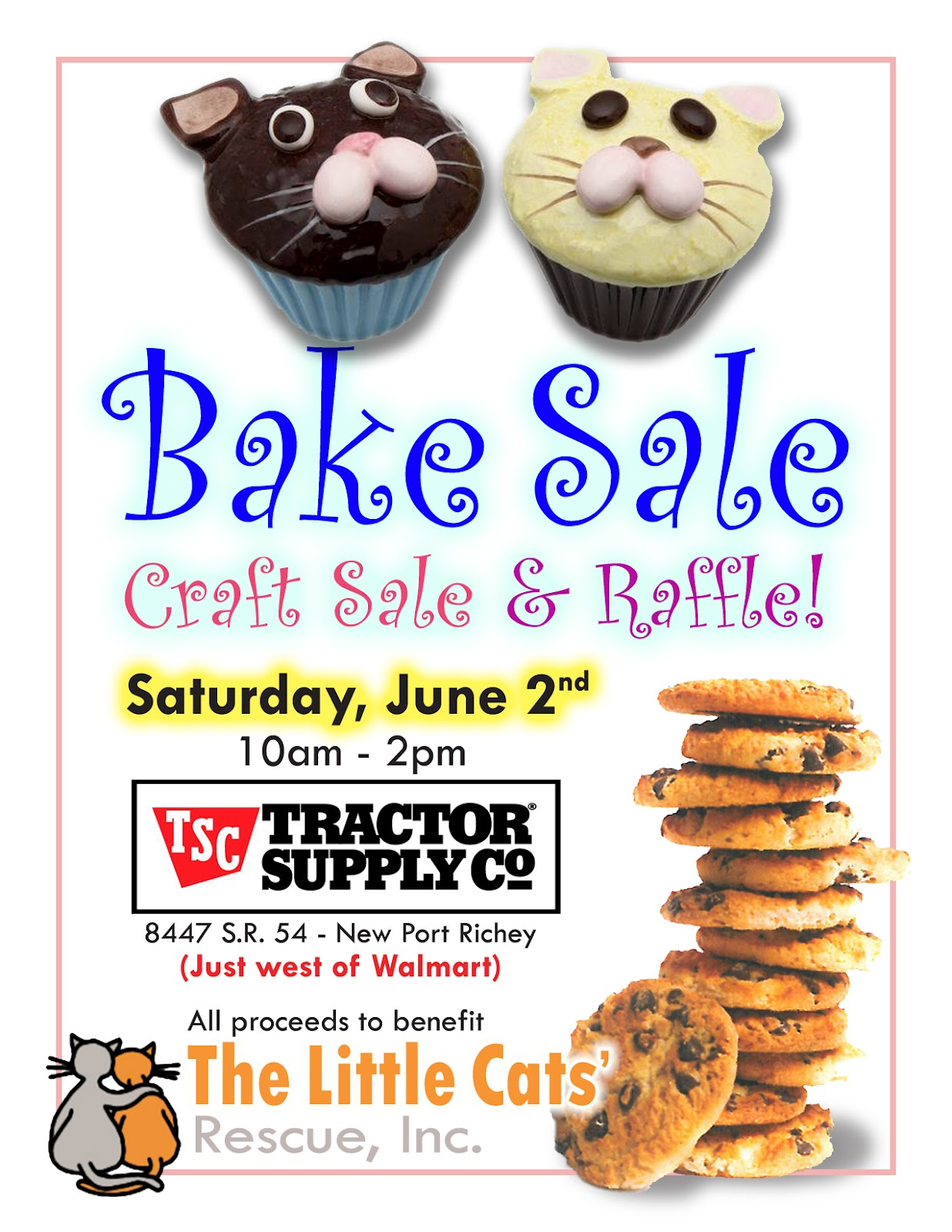The Little Cats' Rescue: Bake Sale, Craft Sale & Raffle!