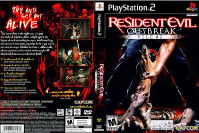 Jogo Resident Evil Outbreak 2 PS2 DVD Capa