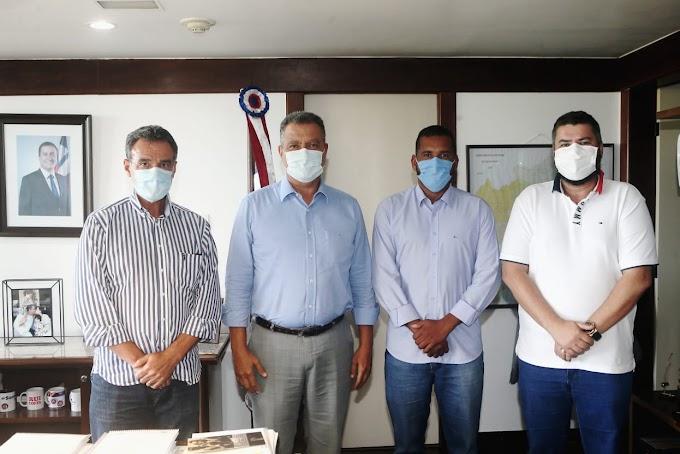 Prefeito eleito de Jacobina, Tiago Dias se reúne com o governador Rui Costa