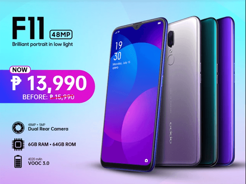 Sale Alert: OPPO cuts F11 price, down to PHP 13,990!