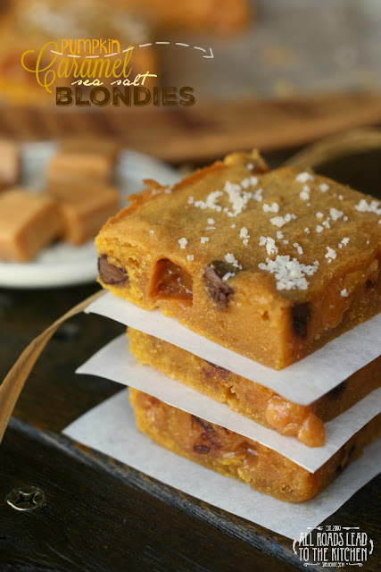 Pumpkin Caramel Sea Salt Blondies