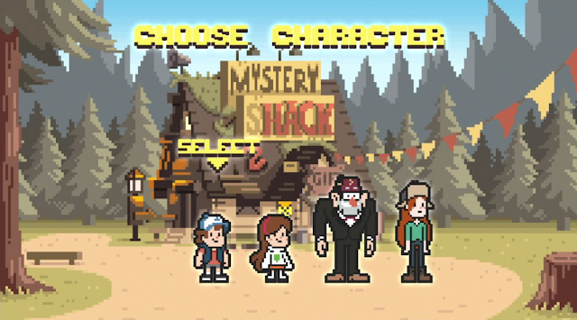 Hey, Grunkle Stan actually put on clothes for the character menu.