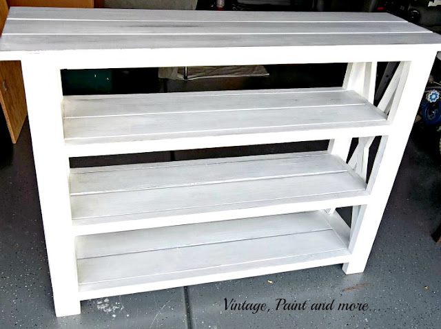 shelf unit diy'd with Anna White plans