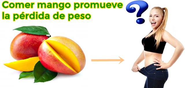 ¿El mango ayuda a bajar de peso?