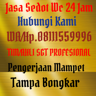 Sedot Wc Jakarta Hp 08111559996