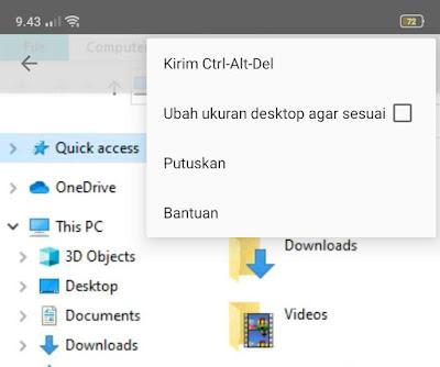Mengendalikan PC Jarak Jauh dengan Android