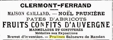 fruits confits d'Auvergne