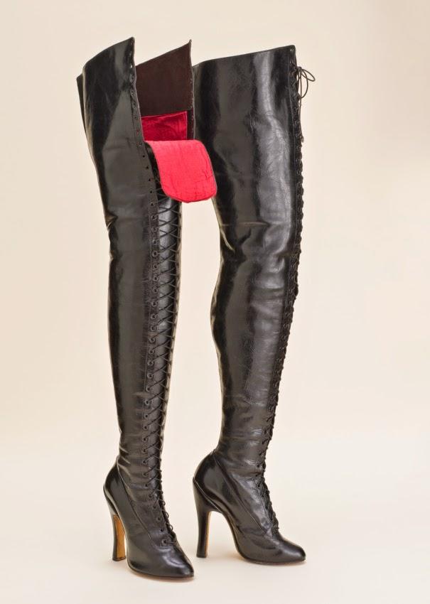 vintage fetish boots lacma