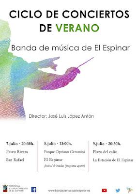 Ciclo de Conciertos de verano de   la Banda Municipal de Música de El Espinar