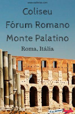 Coliseu, Fórum Romano e Monte Palatino, Roma, Itália