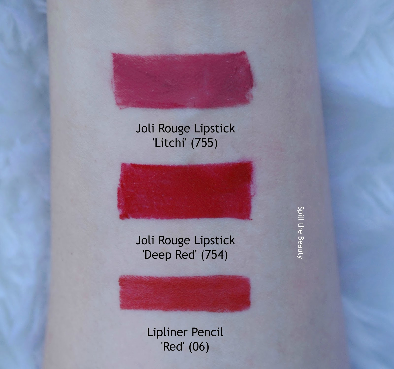 clarins fall 2017 review swatches joli rouge lipstick deep red litchi
