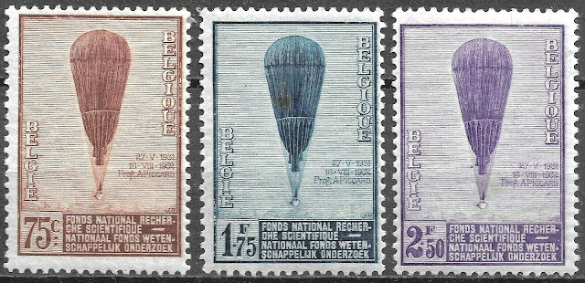 Belgium 1932 Commemoration of Prof. Auguste Piccard