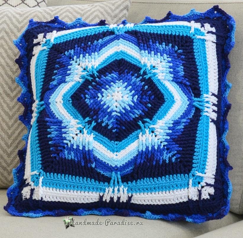 Схемы вязания интерьерной подушки (2)