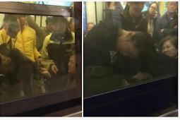 (Video) 3 Wanita Perang Berebut Kursi di dalam Kereta MTR