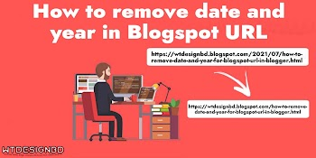 How to remove date and year for Blogspot URL in Blogger