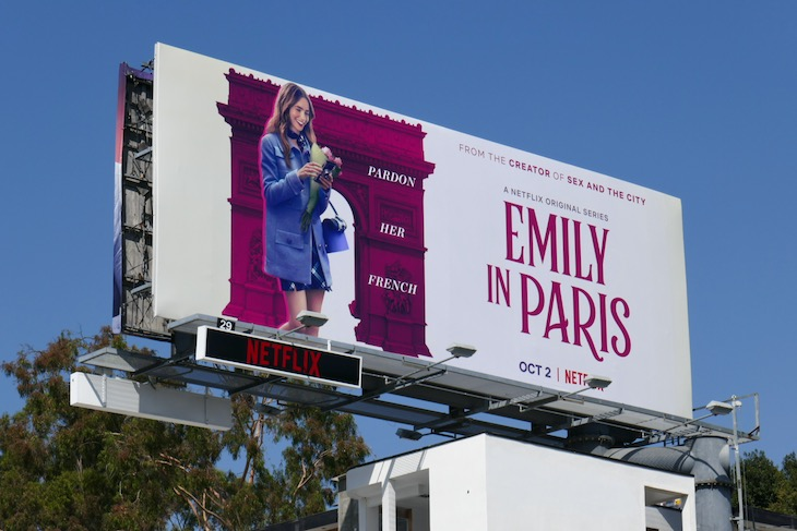 Emily in Paris series launch billboard