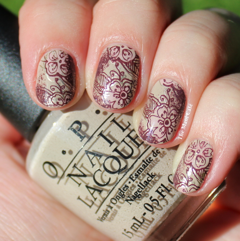 The Mani Caf Vintage Nail Art With Opi Girly Bits