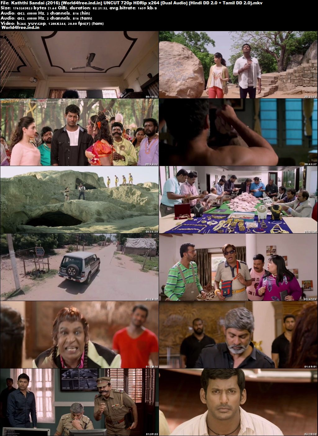 Kaththi Sandai 2016 world4free.ind.in Hindi HDRip 720p Dubbed Movie Download