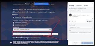 Cara Melihat Stream Key persistent untuk Live Streaming di facebook dengan Aplikasi OBS Studio