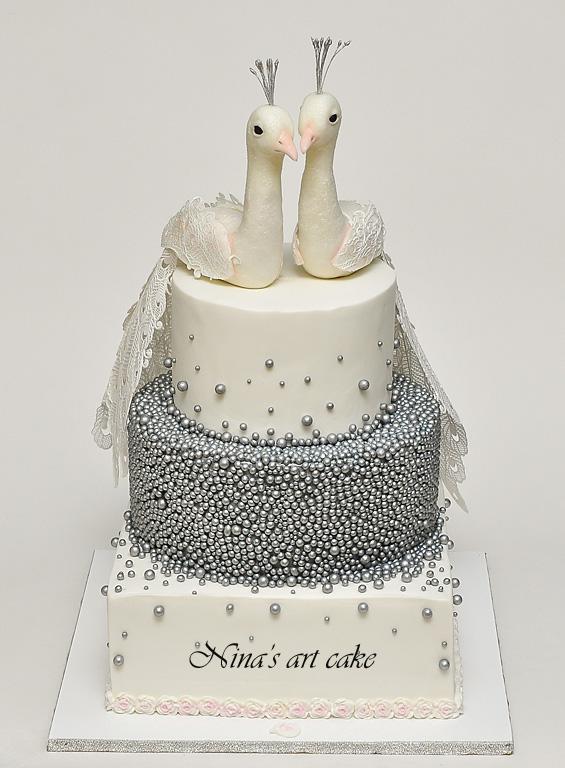 Ninas Art Cake Tort Nunta De Argint