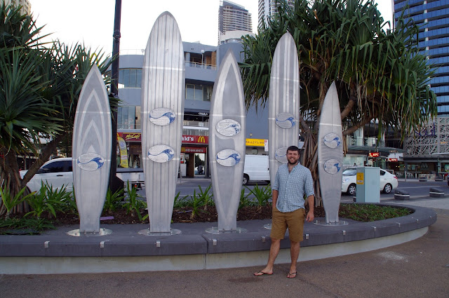 surf board memorials at surfers paradise