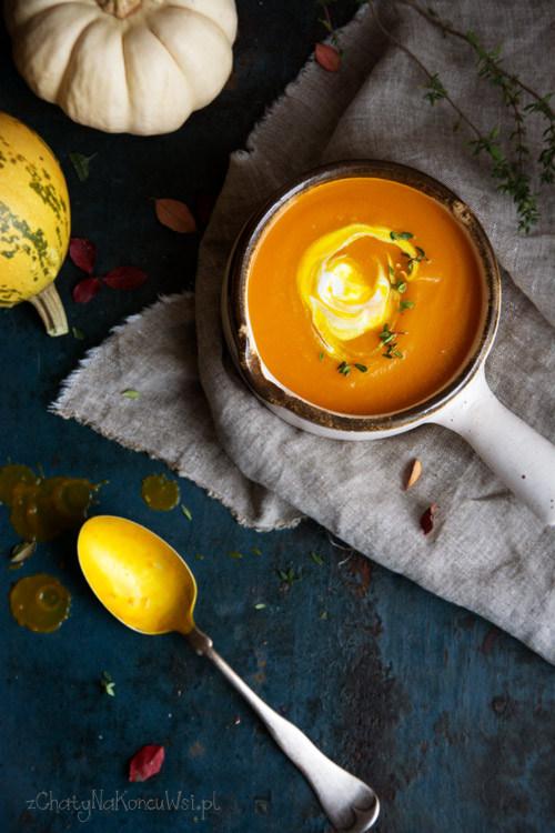 Zupa dyniowa z gruszką i imbirem