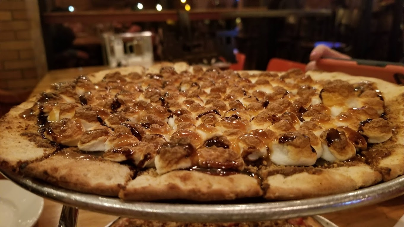 S'mores pie, at The Filling Station, Traverse City