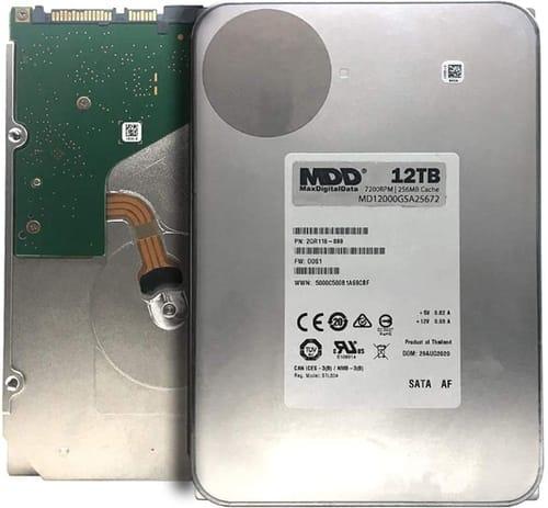 MaxDigitalData 12TB 7200RPM SATA Internal Hard Drive