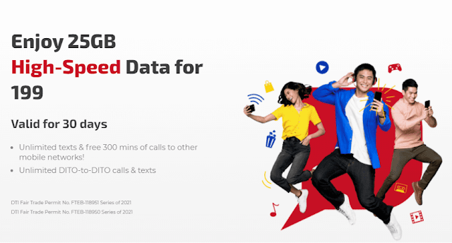 DITO 25GB High-Speed Data Promo Extended for 199
