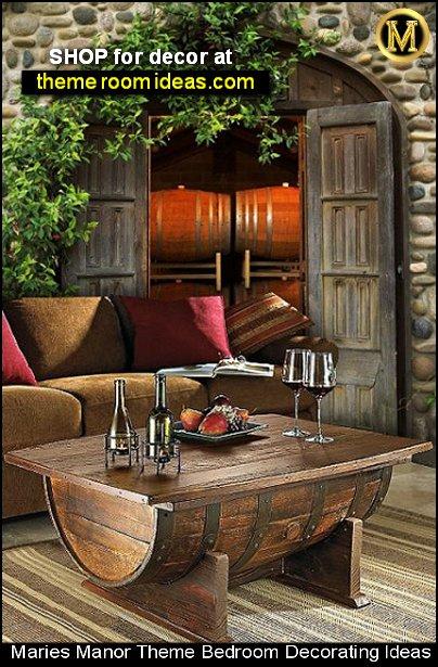 wine barrel coffee table wine barrel furniture tuscan mural tuscan kitchen tuscany decor