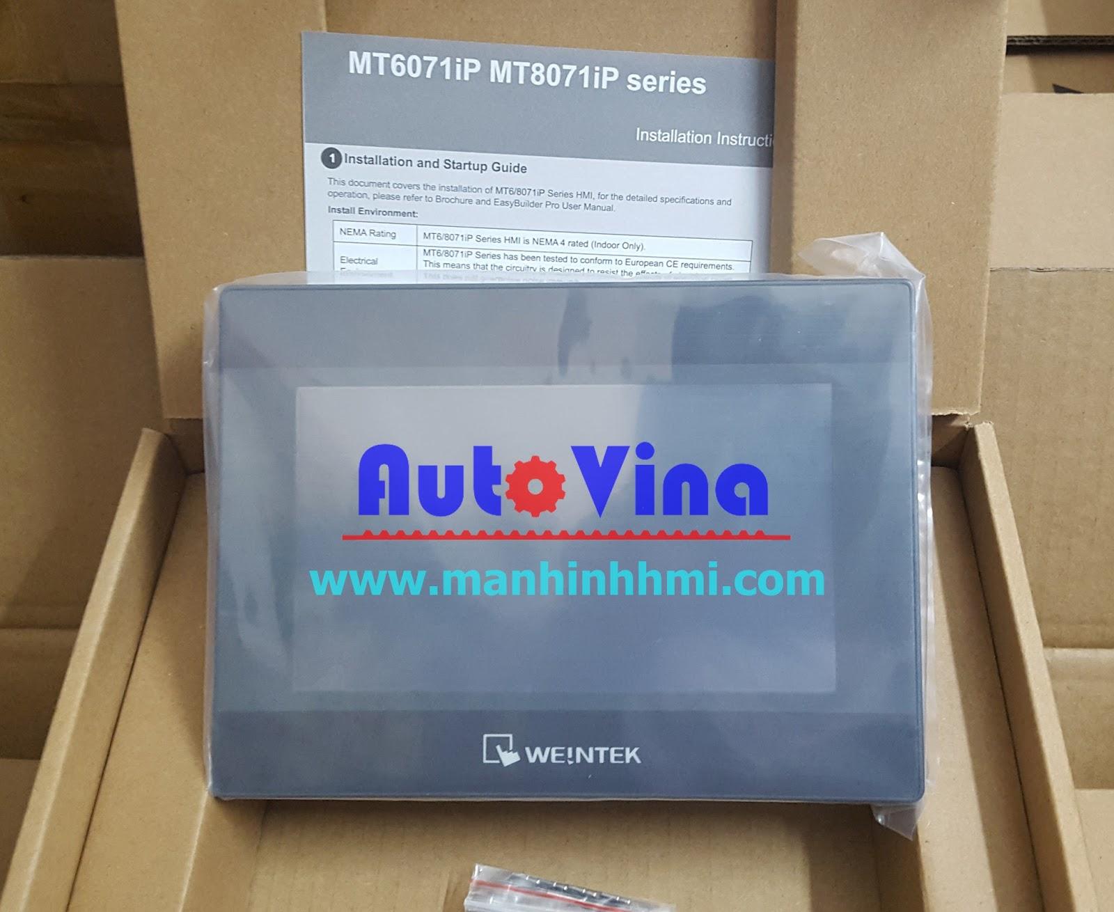 Đại lý bán màn hình cảm ứng HMI MT8071iP Weintek, hàng luôn có sẵn trong kho công ty Auto Vina